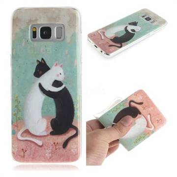 Black and White Cat IMD Soft TPU Cell Phone Back Cover for Samsung Galaxy S8