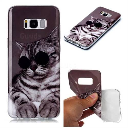 Kitten with Sunglasses Soft TPU Cell Phone Back Cover for Samsung Galaxy S8