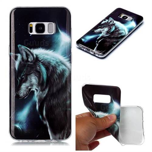 Fierce Wolf Soft TPU Cell Phone Back Cover for Samsung Galaxy S8
