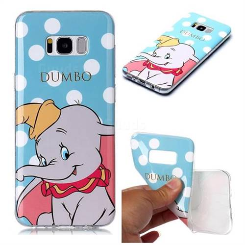 Dumbo Elephant Soft TPU Cell Phone Back Cover for Samsung Galaxy S8