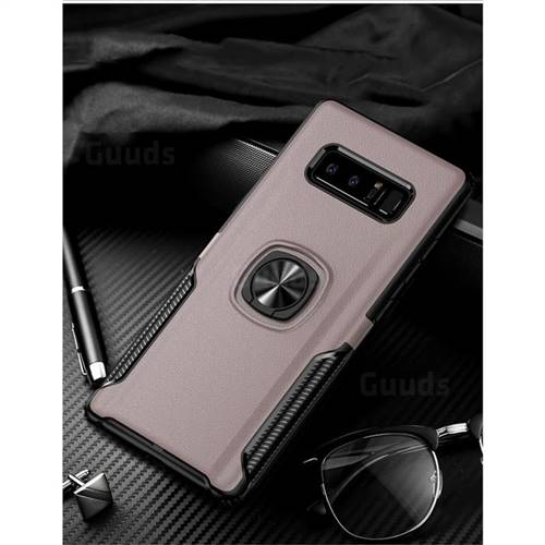 Knight Armor Anti Drop PC + Silicone Invisible Ring Holder Phone Cover for Samsung Galaxy S8 - Rose Gold
