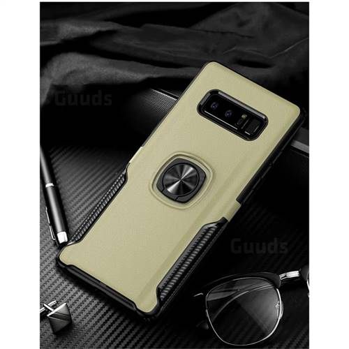 Knight Armor Anti Drop PC + Silicone Invisible Ring Holder Phone Cover for Samsung Galaxy S8 - Champagne