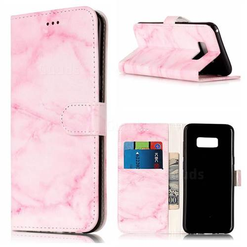 Pink Marble PU Leather Wallet Case for Samsung Galaxy S8