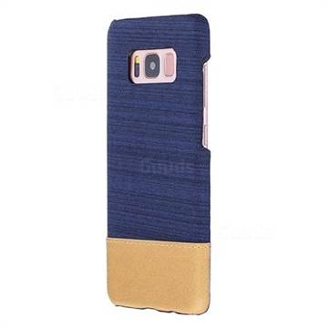 Canvas Cloth Coated Plastic Back Cover for Samsung Galaxy S8 - Dark Blue