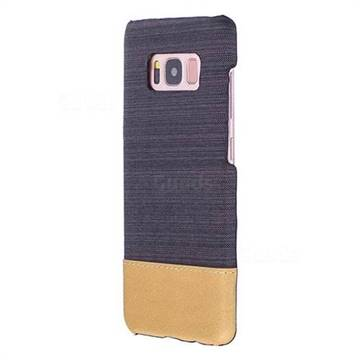 Canvas Cloth Coated Plastic Back Cover for Samsung Galaxy S8 - Black