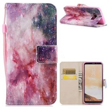 Cosmic Stars PU Leather Wallet Case for Samsung Galaxy S8