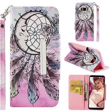 Angel Monternet Big Metal Buckle PU Leather Wallet Phone Case for Samsung Galaxy S8