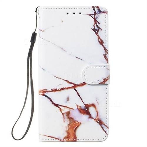 newest cd023 6c3cb Platinum Marble Smooth Leather Phone Wallet Case for Samsung Galaxy S8