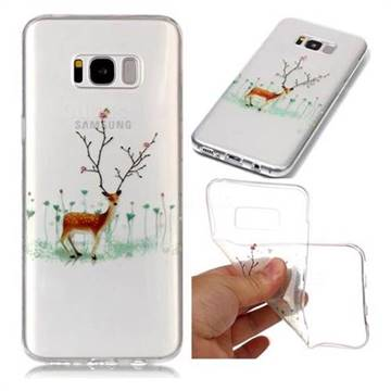 Branches Elk Super Clear Soft TPU Back Cover for Samsung Galaxy S8 Plus S8+