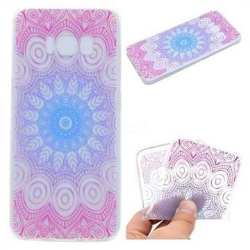 Colored Mandala Super Clear Soft TPU Back Cover for Samsung Galaxy S8 Plus S8+
