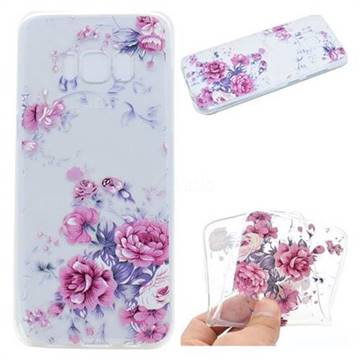 Peony Super Clear Soft TPU Back Cover for Samsung Galaxy S8 Plus S8+