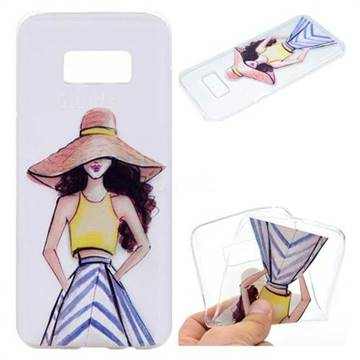 Summer Girl Super Clear Soft TPU Back Cover for Samsung Galaxy S8 Plus S8+