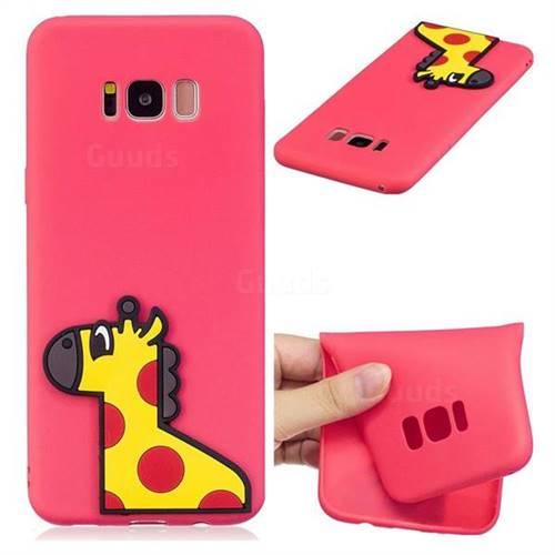 Yellow Giraffe Soft 3D Silicone Case for Samsung Galaxy S8 Plus S8+