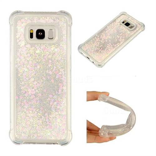 Dynamic Liquid Glitter Sand Quicksand Star TPU Case for Samsung Galaxy S8 Plus S8+ - Pink