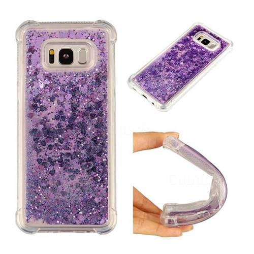 For Samsung Galaxy S8 Dynamic Liquid Glitter Sand Quicksand Star Soft Tpu Case For Samsung S8plus Crystal Black Back Cover Half-wrapped Case Phone Bags & Cases