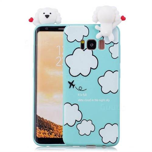 Cute Cloud Girl Soft 3D Climbing Doll Soft Case for Samsung Galaxy S8 Plus  S8+