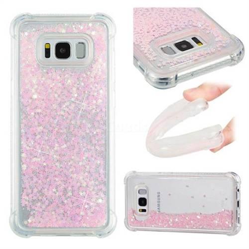 Dynamic Liquid Glitter Sand Quicksand TPU Case for Samsung Galaxy S8 Plus S8+ - Silver Powder Star
