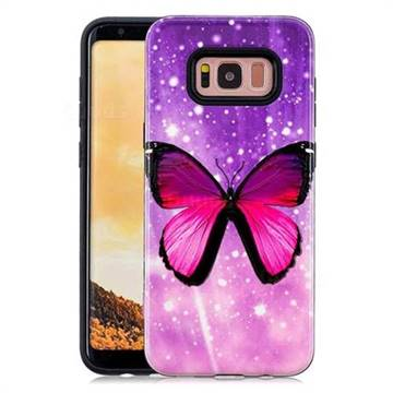 Glossy Butterfly Pattern 2 in 1 PC + TPU Glossy Embossed Back Cover for Samsung Galaxy S8 Plus S8+