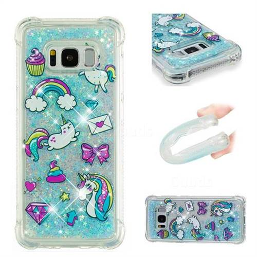 Fashion Unicorn Dynamic Liquid Glitter Sand Quicksand Star TPU Case for Samsung Galaxy S8 Plus S8+