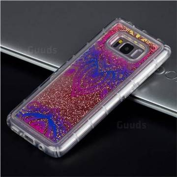 Blue and White Glassy Glitter Quicksand Dynamic Liquid Soft Phone Case for Samsung Galaxy S8 Plus S8+