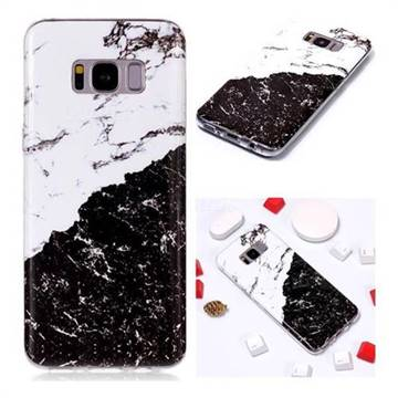 newest 59947 01563 Black and White Soft TPU Marble Pattern Phone Case for Samsung Galaxy S8  Plus S8+