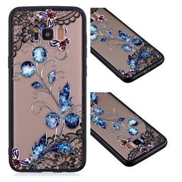 Butterfly Lace Diamond Flower Soft TPU Back Cover for Samsung Galaxy S8 Plus S8+