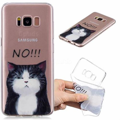 Cat Say No Clear Varnish Soft Phone Back Cover for Samsung Galaxy S8 Plus S8+