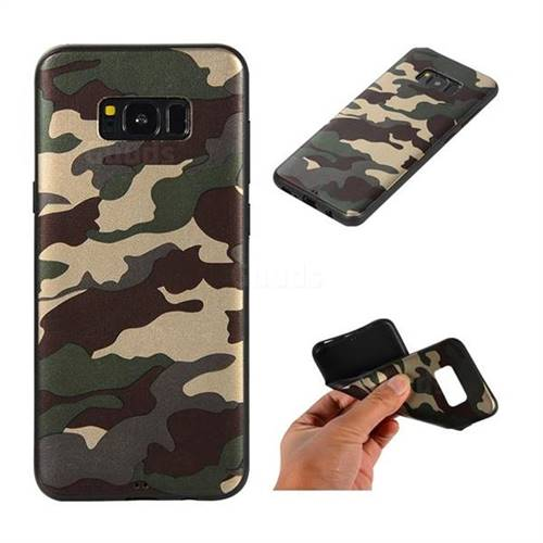 Camouflage Soft TPU Back Cover for Samsung Galaxy S8 Plus S8+ - Gold Green