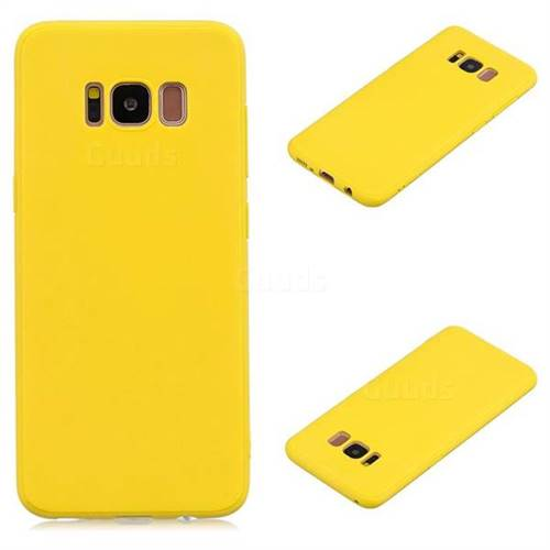 best service 54975 eb322 Candy Soft Silicone Protective Phone Case for Samsung Galaxy S8 Plus S8+ -  Yellow