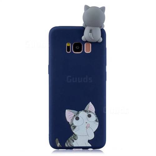 the latest 54bee 3eda3 Big Face Cat Soft 3D Climbing Doll Soft Case for Samsung Galaxy S8 Plus S8+