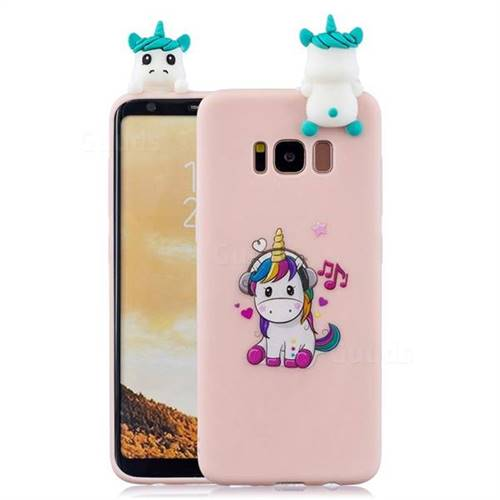 Music Unicorn Soft 3D Climbing Doll Soft Case for Samsung Galaxy S8 Plus S8+