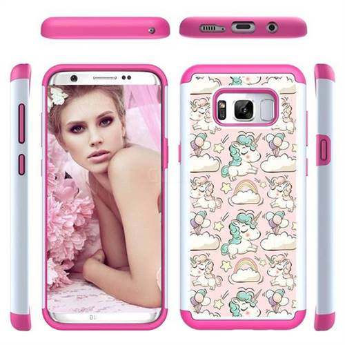 Pink Pony Shock Absorbing Hybrid Defender Rugged Phone Case Cover for Samsung Galaxy S8 Plus S8+