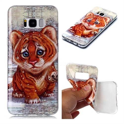 Cute Tiger Baby Soft TPU Cell Phone Back Cover for Samsung Galaxy S8 Plus S8+