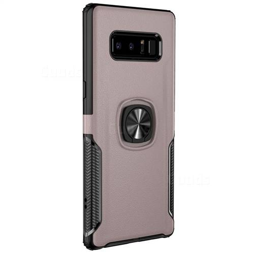 Knight Armor Anti Drop PC + Silicone Invisible Ring Holder Phone Cover for  Samsung Galaxy S8 Plus S8+ - Rose Gold