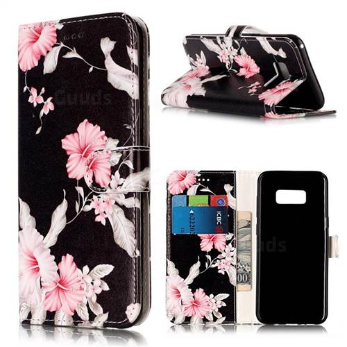 Azalea Flower PU Leather Wallet Case for Samsung Galaxy S8 Plus S8+