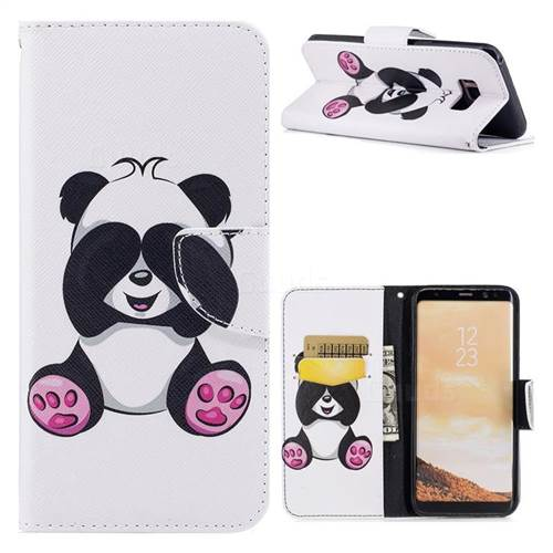 Lovely Panda Leather Wallet Case for Samsung Galaxy S8 Plus S8+
