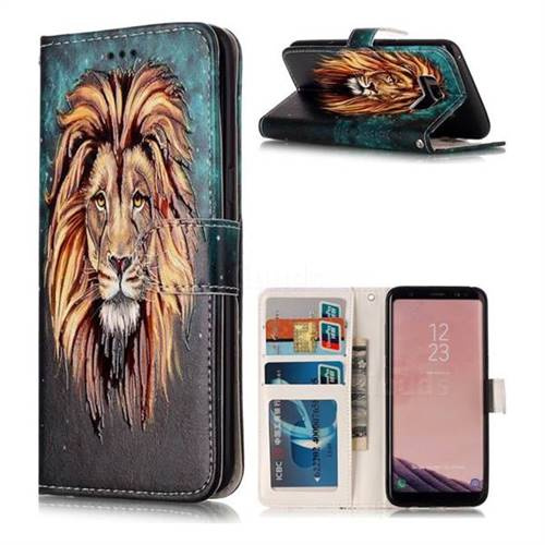 Ice Lion 3D Relief Oil PU Leather Wallet Case for Samsung Galaxy S8 Plus S8+