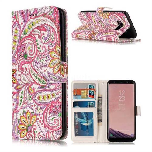 Pepper Flowers 3D Relief Oil PU Leather Wallet Case for Samsung Galaxy S8 Plus S8+