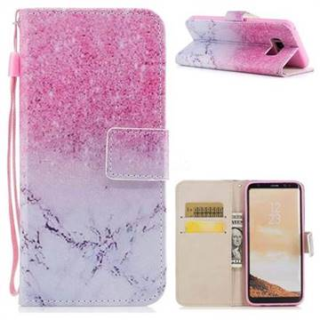 Marble Powder PU Leather Wallet Case for Samsung Galaxy S8 Plus S8+