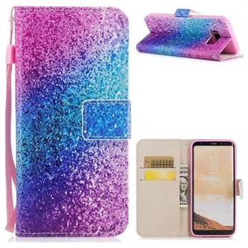 Rainbow Sand PU Leather Wallet Case for Samsung Galaxy S8 Plus S8+