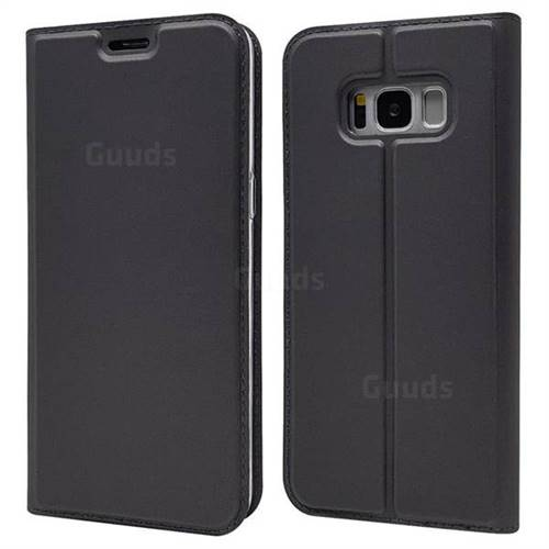Ultra Slim Card Magnetic Automatic Suction Leather Wallet Case for Samsung Galaxy S8 Plus S8+ - Star Grey