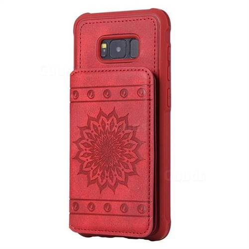 huge discount 1395b db3e7 Luxury Embossing Sunflower Multifunction Leather Back Cover for Samsung  Galaxy S8 Plus S8+ - Red