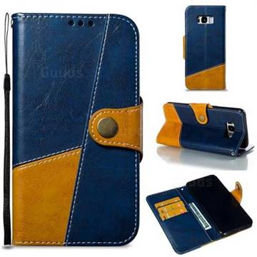 Retro Magnetic Stitching Wallet Flip Cover for Samsung Galaxy S8 Plus S8+ - Blue