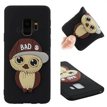 Bad Boy Owl Soft 3D Silicone Case for Samsung Galaxy S9 - Black