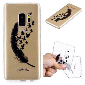 Feather Flying Birds Super Clear Soft TPU Back Cover for Samsung Galaxy S9  - TPU Case - Guuds