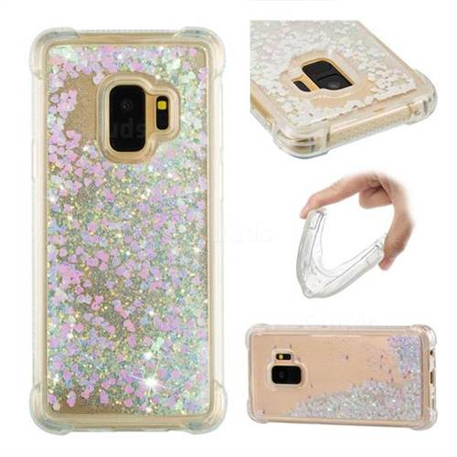 Dynamic Liquid Glitter Sand Quicksand Star TPU Case for Samsung Galaxy S9 - Pink