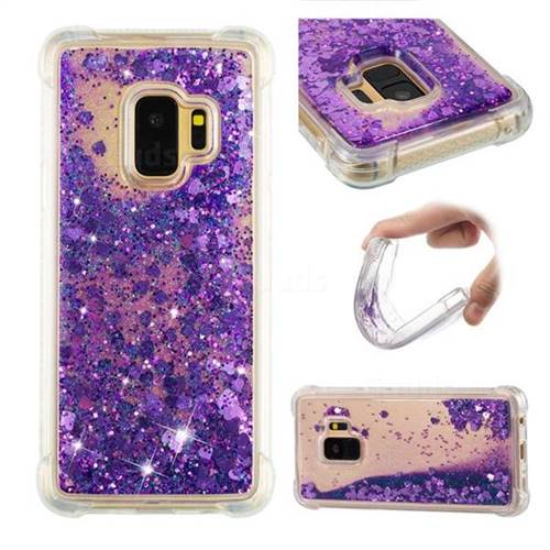 Dynamic Liquid Glitter Sand Quicksand Star TPU Case for Samsung Galaxy S9 - Purple