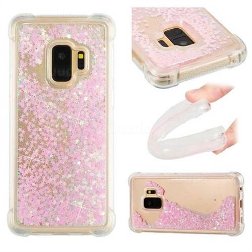 Dynamic Liquid Glitter Sand Quicksand TPU Case for Samsung Galaxy S9 - Silver Powder Star
