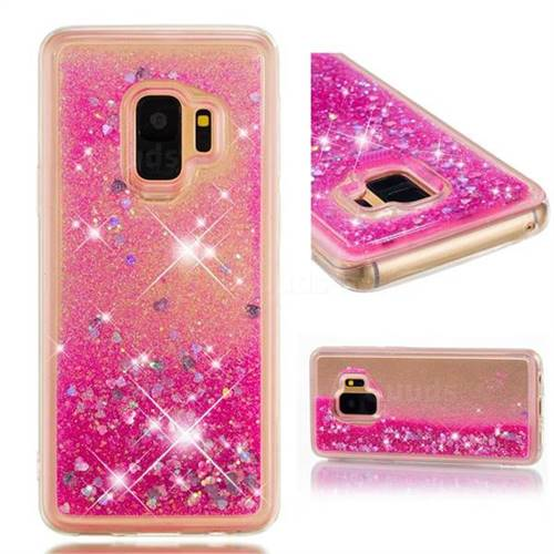 Dynamic Liquid Glitter Quicksand Sequins TPU Phone Case for Samsung Galaxy S9 - Rose