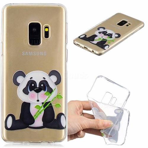 Bamboo Panda Clear Varnish Soft Phone Back Cover for Samsung Galaxy S9